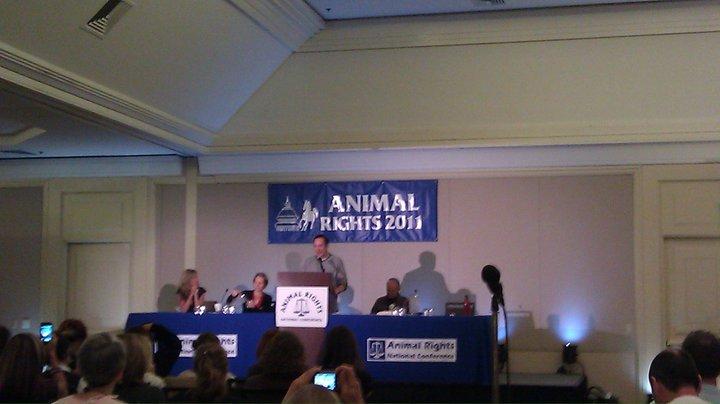 Sam speaking at the ARNC.