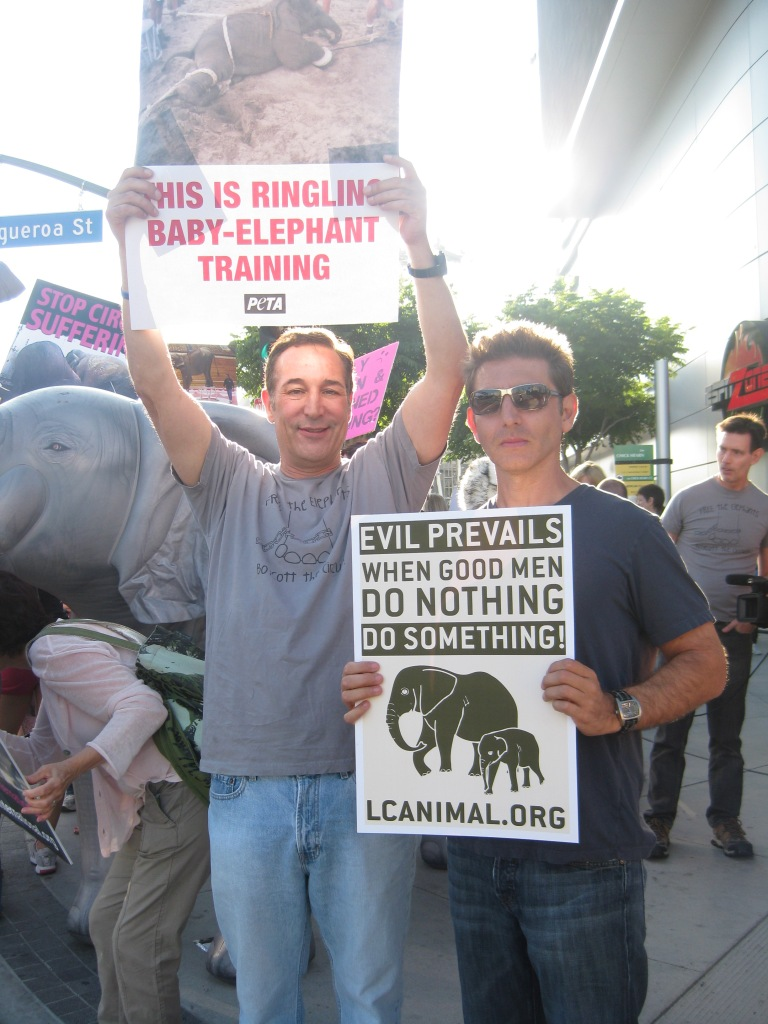 Protesting with Sam in LA.