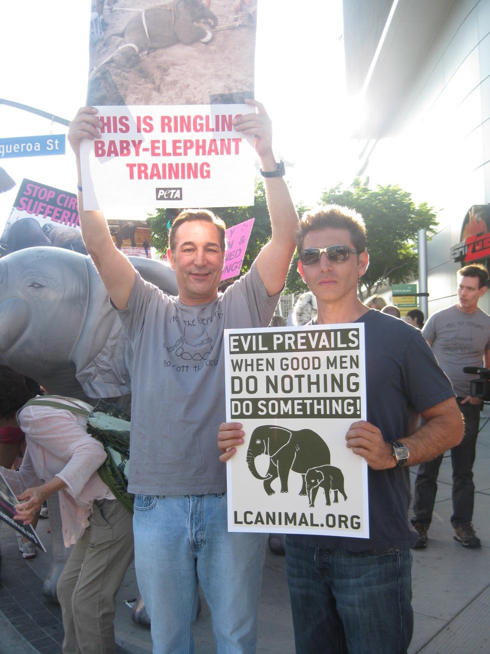 Protesting with Sam in LA.