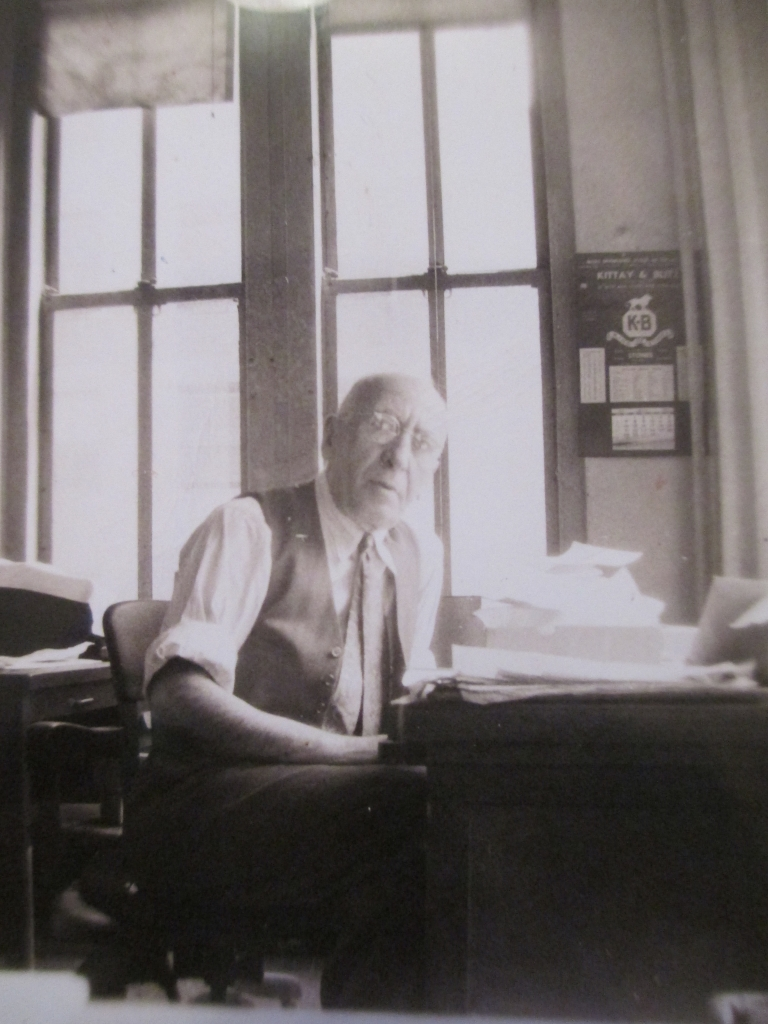My grandfather's father in his jewelry store office in New York