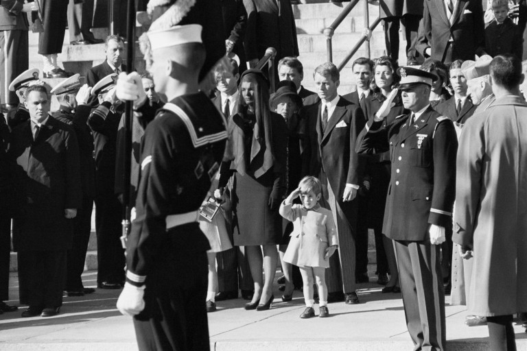 John F. Kennedy Jr. Saluting His Father at Funeral