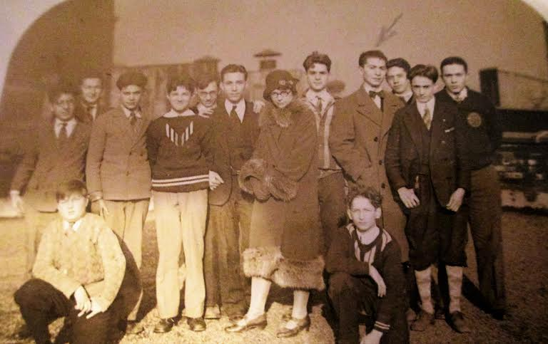 Latin Club at Stuyvesant High School (arrow pointing at grandfather)