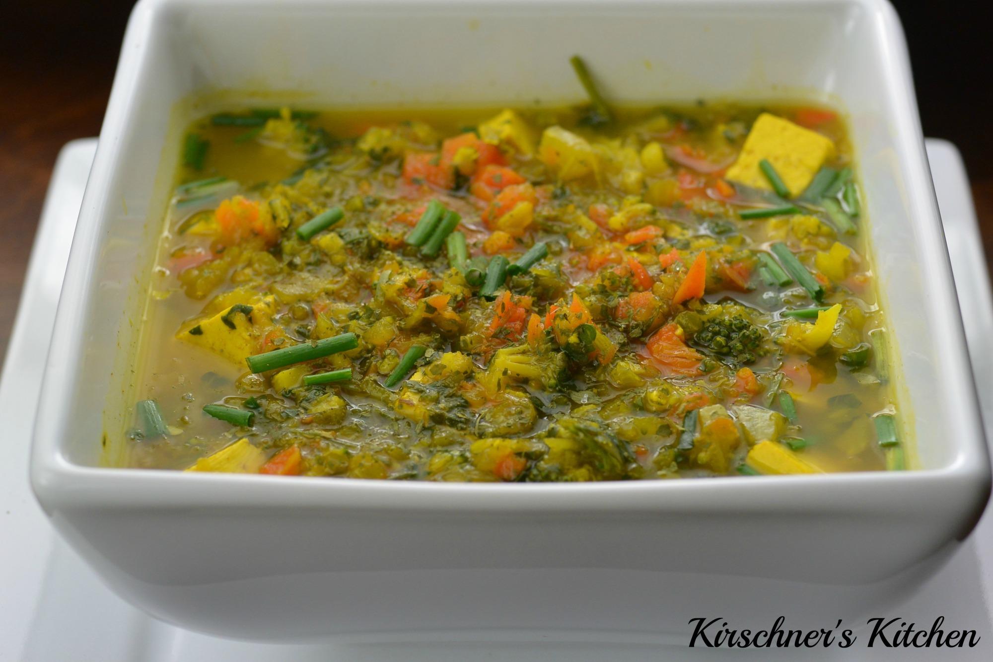 vegetable noodle soup