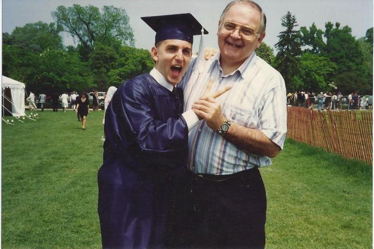 grad with dad