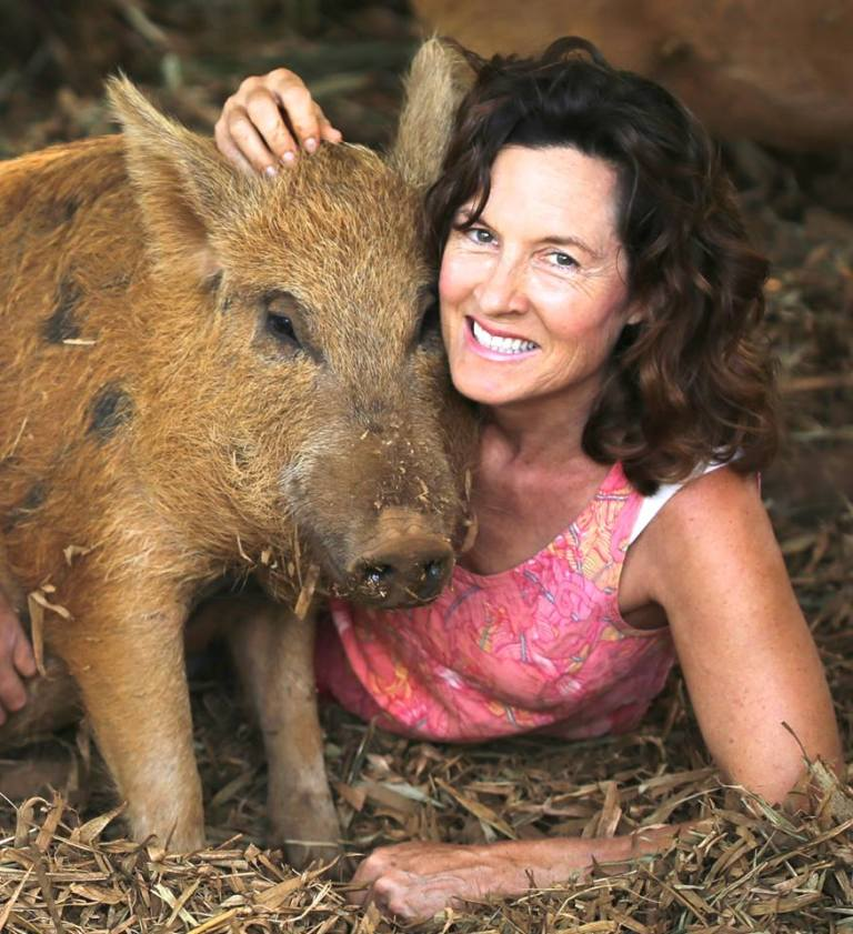 Laurelee with her best friend Berney