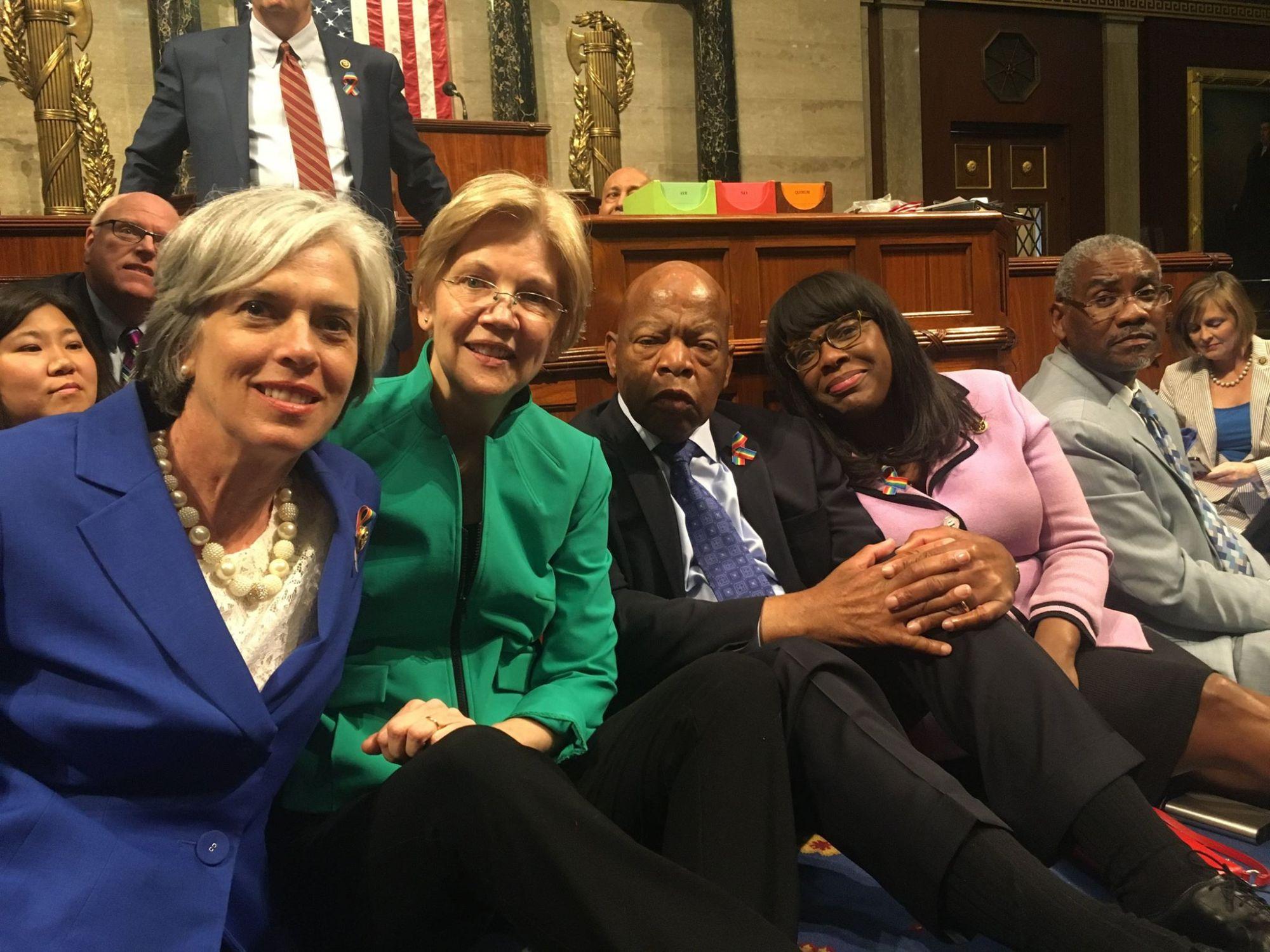 Democrat Sit In