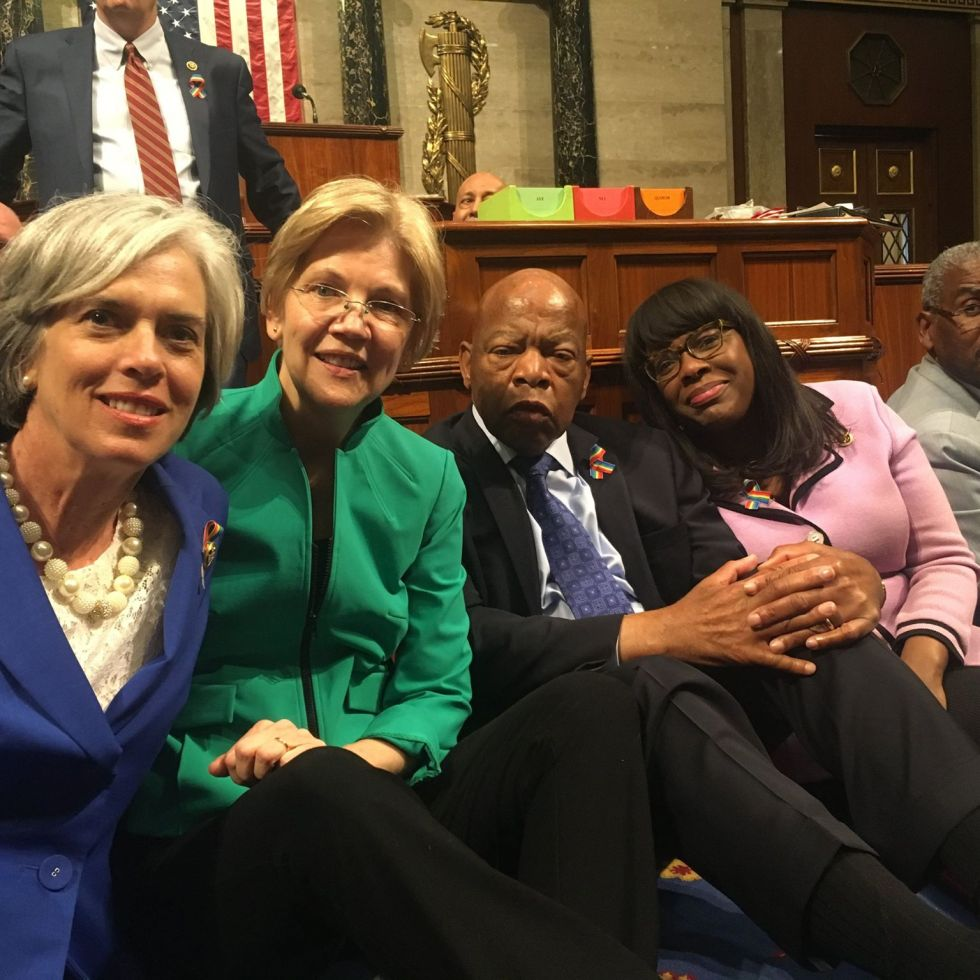 Democrat Sit In