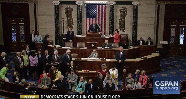 Democrats Sit In