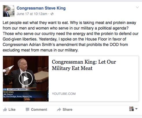 Steve King Facebook