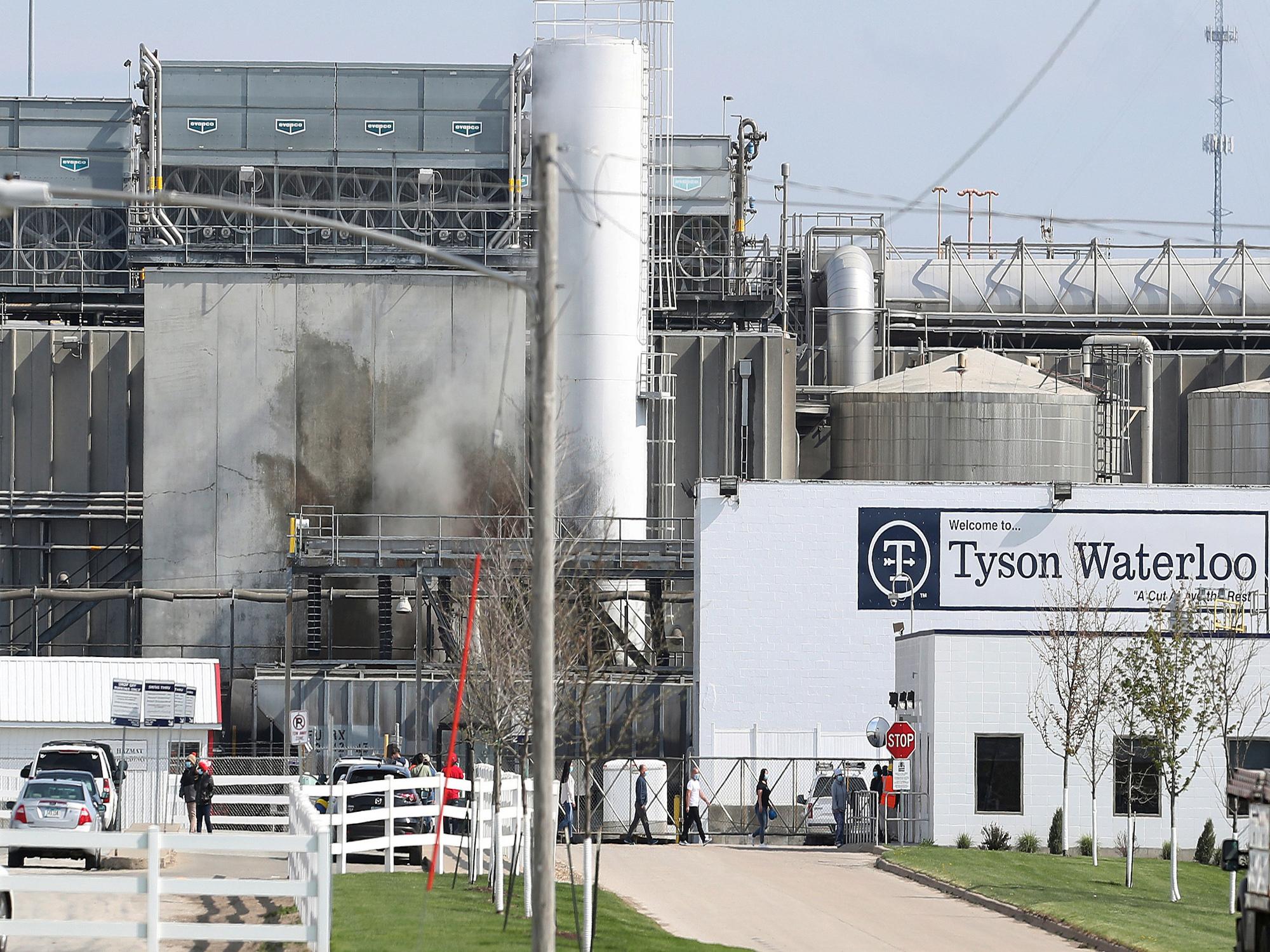 To show Waterloo Iowa Tyson Foods plant