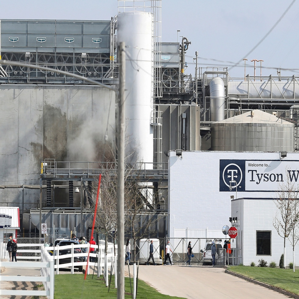 To show Waterloo Iowa Tyson Foods plant